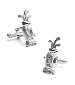 Cufflinks Inc. Men's Plated Golf Bag Cufflinks
