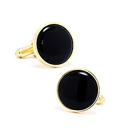 Ox & Bull Men's Gold and Onyx Cufflinks