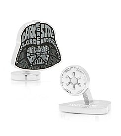 Star Wars™ Men's Star Wars Darth Vader Typography Cufflinks