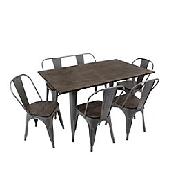 LumiSource Oregon 6-pc. Dining Set