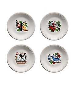 Fiesta® 12 Days of Christmas Set of 4 Dessert Plates Days 1-4