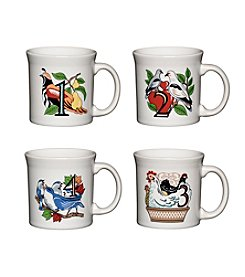 Fiesta® 12 Days of Christmas Set of 4 Mugs Days 1-4