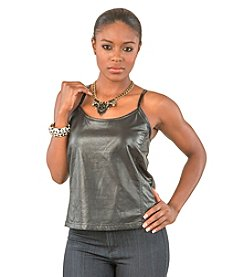 Poetic Justice® Vegan Faux Leather Swing Tank Top