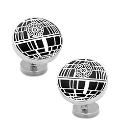 Star Wars Men's Recessed Matte Death Star Cufflinks