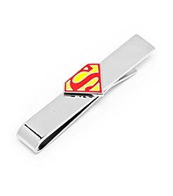 DC Comics Men's Enamel Superman Shield Tie Bar