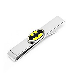 DC Comics Men's Enamel Oval Batman Logo Tie Bar