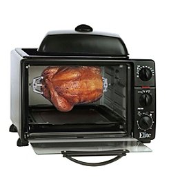 Elite Cuisine 23-Liter Toaster Oven with Rotisserie and Grill/Griddle Top