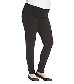 Three Seasons Maternity™ Plus Size Solid Knit Fold Over Leggings