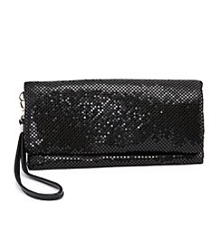 La Regale® Mesh Fold Over Wristlet Clutch