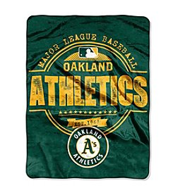 Northwest Company MLB® Oakland Athletics Structure Micro Raschel Throw