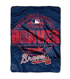 Northwest Company MLB® Atlanta Braves Structure Micro Raschel Throw