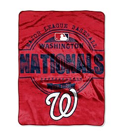 Northwest Company MLB® Washington Nationals Structure Micro Raschel Throw