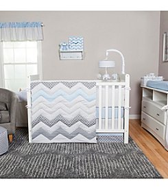 Trend Lab Blue Taffy Chevron Baby Bedding Collection
