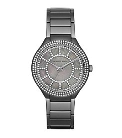 Michael Kors® Women's Silvertone Gunmetal Kerry Watch With A Grey Mother Of Pearl Dial