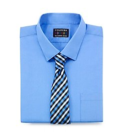 Alexander Julian® Men's Big & Tall Regular Fit Dress Shirt & Tie Set