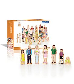 Guidecraft® Wedgies Multi-Cultural Family Set