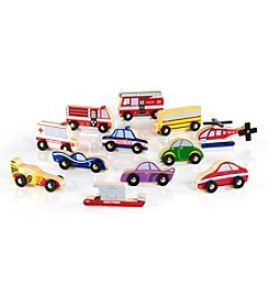 Guidecraft® 12 Piece Wooden Vehicle Collection