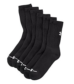Under Armour® Men's 6-Pack Charged Cotton® Crew Socks