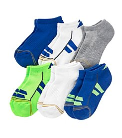 GOLD TOE® Boys' 6-Pack Colorblock Socks