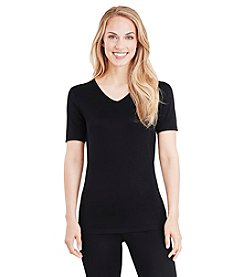 Cuddl Duds® Softwear Lace Short Sleeve Top