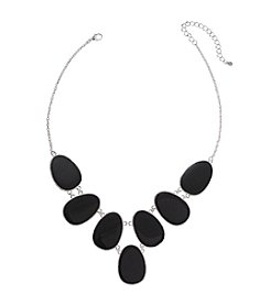 Studio Works® Black Enamel And Silvertone Statement Necklace