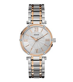 GUESS Women's Two Tone Park Watch