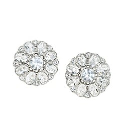 Carolee® Silvertone Broadway Lights Button Clip On Earrings