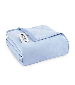 Shavel Home Products Micro Flannel® Solid Electric Heated Blanket