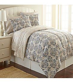 Shavel Home Products Micro Flannel® Leopard Damask Comforter Set