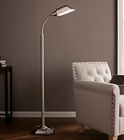 Southern Enterprises OttLite Brushed Nickel Felton Task Floor Lamp