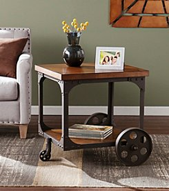 Southern Enterprises Brice Industrial Accent Table