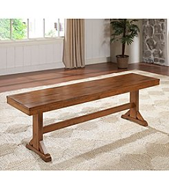 W. Designs Antique Brown Bench