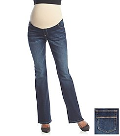 Three Seasons Maternity™ Dark Wash Bootcut Jeans With Natural Belly Band