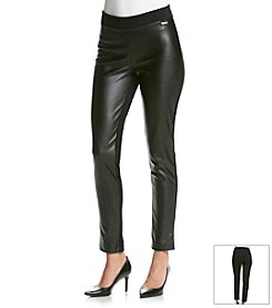 Calvin Klein Faux Leather Detail Leggings