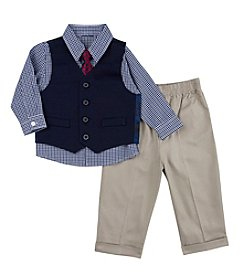 Nautica® Baby Boys' Solid Vest Set with Tie