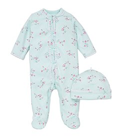 Little Me® Baby Girls' Floral Lace Trim Footie