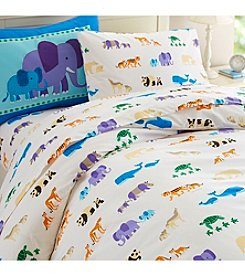 Wildkin Olive Kids Endangered Animals Duvet Cover