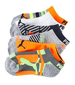 PUMA Boys' 6-Pack Heel And Toe Cushion Socks