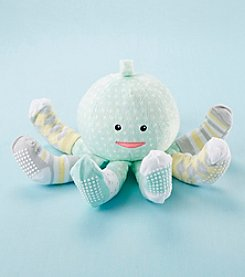 Baby Aspen Octopus Plush with Four Pairs of Socks for Baby