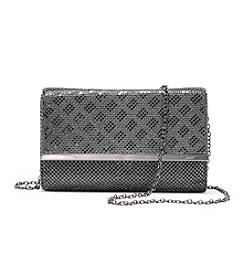 La Regale® Diamond Mesh Flap Clutch
