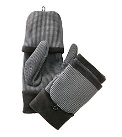 Isotoner Signature® Sport Knit Flip Top Gloves With Overlock Stitch