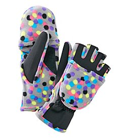 Isotoner Signature® Spandex Fleece Convertible Flip Top Gloves