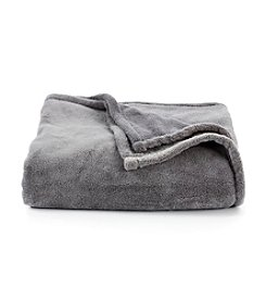 LivingQuarters Grey Micro Cozy Throw