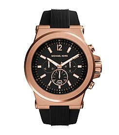 Michael Kors® Men's Black And Rose Goldtone Dylan Watch