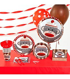 Sock Monkey Red Party Kit