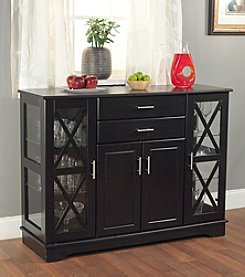 TMS, Inc. Kendall 6 Door Buffet With Tempered Glass Shelves