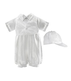 Lauren Madison® Baby Boys' Christening Bowtie One Piece