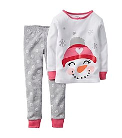 Carter's® Girls' 12M-12 Two-Piece Sally The Snow-Woman PJs