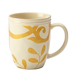 Rachael Ray® Gold Scroll Almond Cream Mug