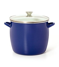 Sabatier® Blue Enamel on Steel Stock Pot with Glass Lid